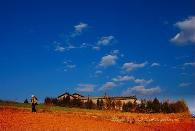 dongchuanredland redland land sky blue red cloud h