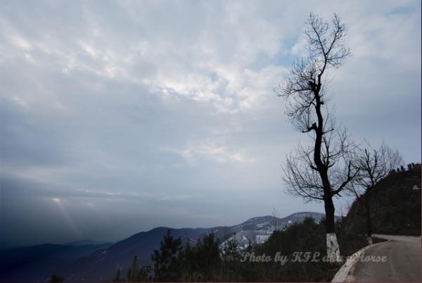 dongchuanredland redland cloudy sky tree