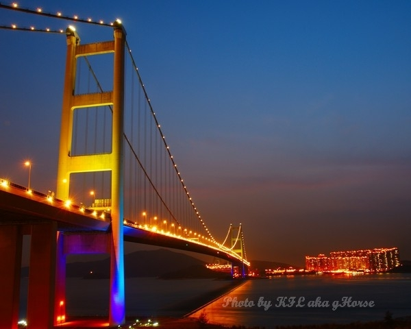 TsingMaBridge Bridge Night