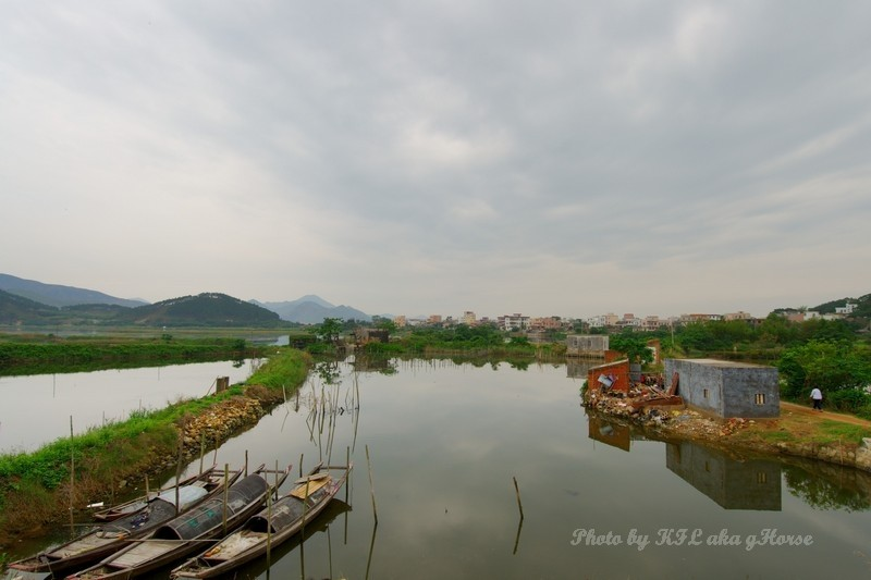 Sanmei Fishing Village Pond Boat