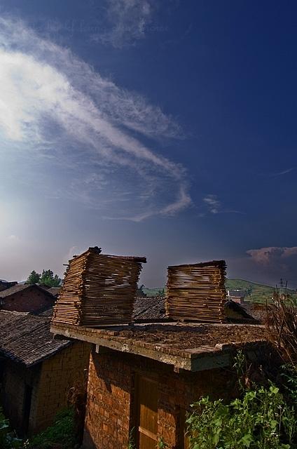 wood pile house XiaoDongJiang