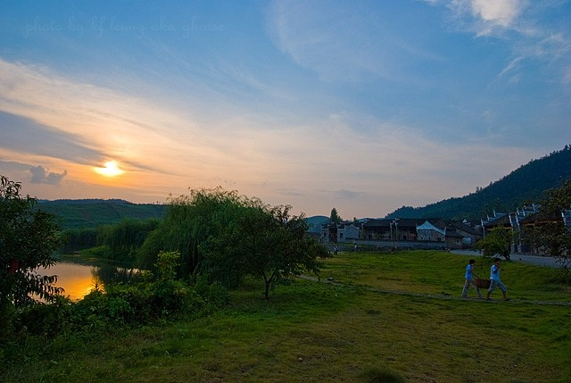 xiaodongjiang village sunset