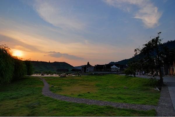 xiaodongjiang village sunset