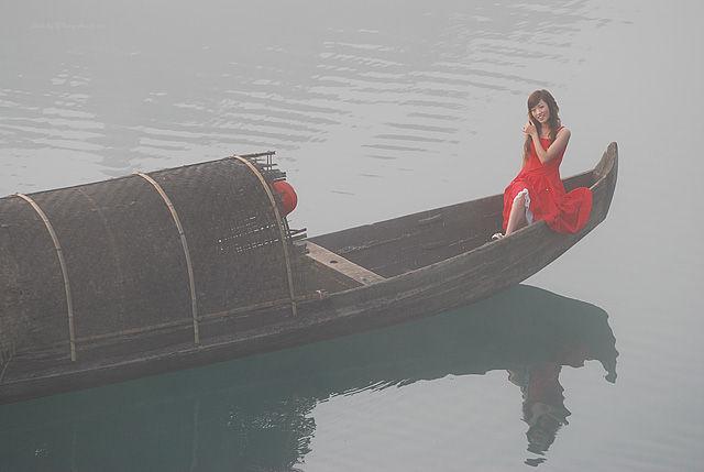 river boat mist xiaodongjiang