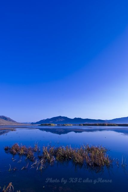 blue, reflection, sky, wild duck lake, Xin Jiang