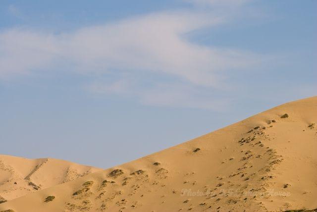 blue, dune, sand, sky, Xin Jiang,