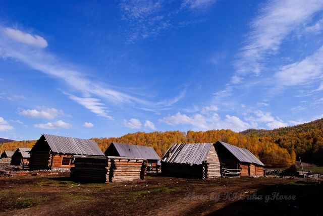 cloud, Hemu, house, sky, tree, village, wood, Xin
