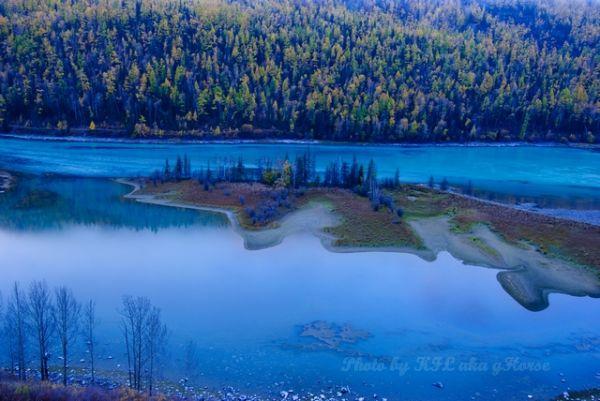 新疆, Hanas, Xin Jiang, 哈纳斯, morning, reflection, wa