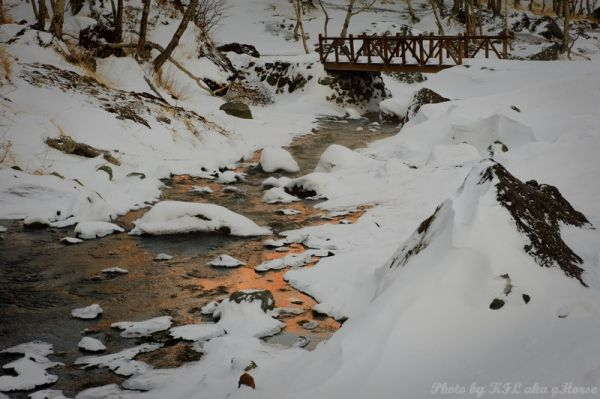 Jilin, 吉林, chang bai shan, 长白山, snow, river, refle
