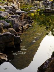 云南, 罗平, Yun Nam, Lou Ping, water, hills, reflectio