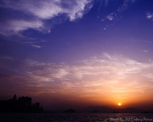 West Kowloon, Hong Kong, 香港, 西九龙, sunset, 日落, blue