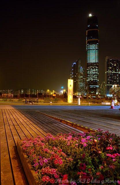 West Kowloon, Hong Kong, 香港, 西九龙, night scene, 夜景,