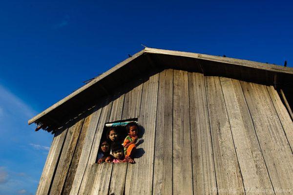 Semporna, Malaysia, blue, sky, wood, house, childr