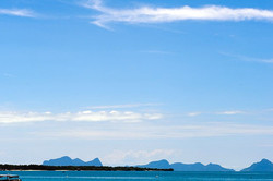 Semporna, Malaysia, sea, blue, sky, cloud, island,