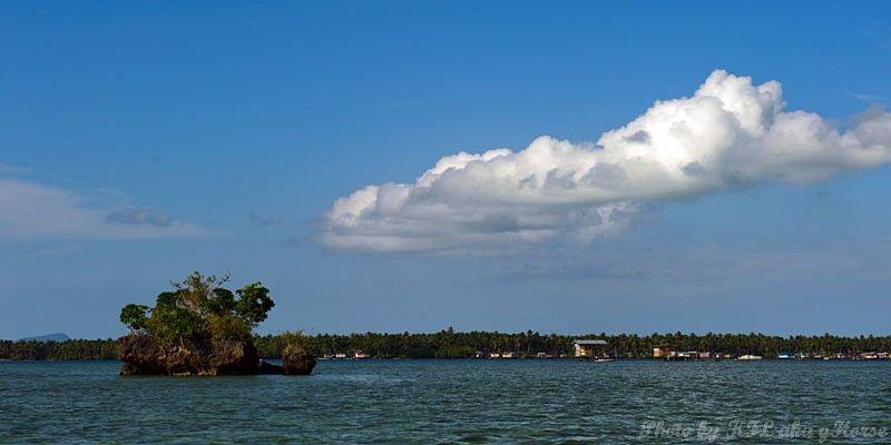 Semporna, Malaysia, blue, sky, cloud, island, sea