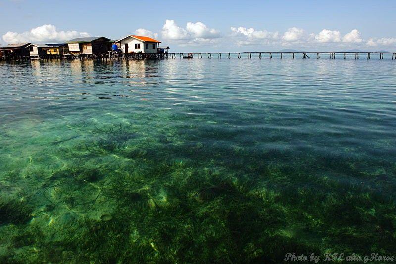 Semporna, Malaysia, sea, blue, sky, cloud, boat, h