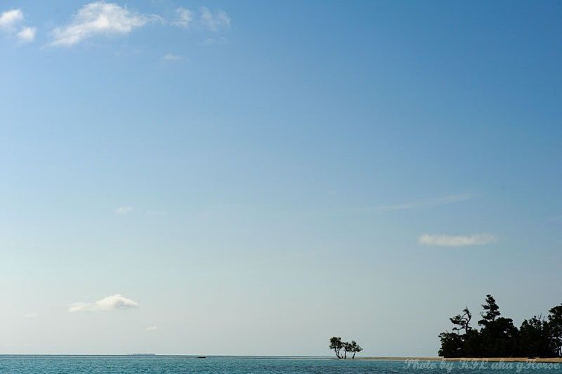 Semporna, Malaysia, sea, blue, sky, cloud, tree
