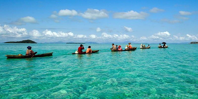 Semporna, Malaysia, sea, blue, sky, cloud, boat,