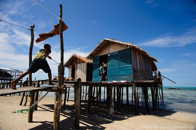 Semporna, Malaysia, blue, sky, cloud, child, house