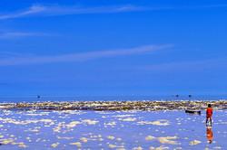 Semporna, Malaysia, blue, sky, cloud, sea, child