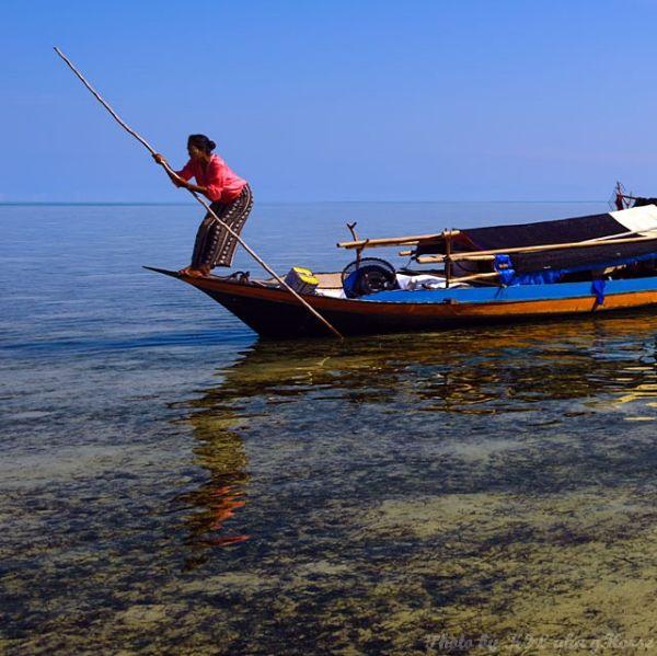 Semporna, Malaysia, blue, sky, people, sea, boat
