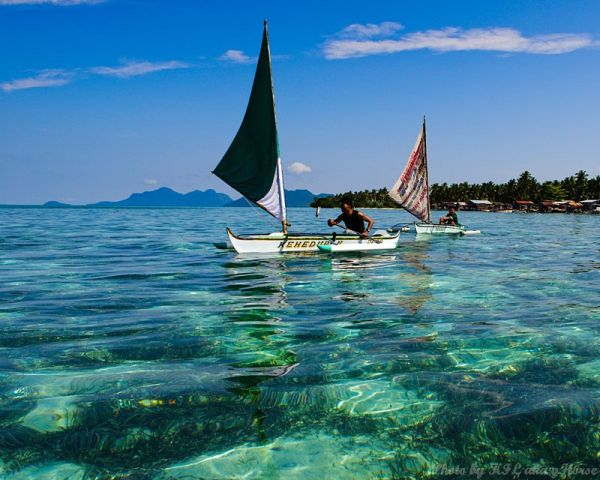 Semporna, Malaysia, sea, boat, blue, sky, cloud, w