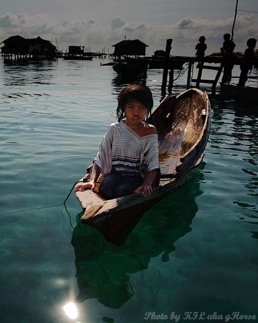 Semporna, Malaysia, boat, child, sea, sky