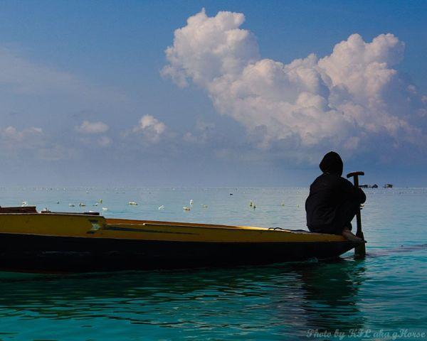 Semporna, Malaysia, sea, sky, blue, cloud, boat, p