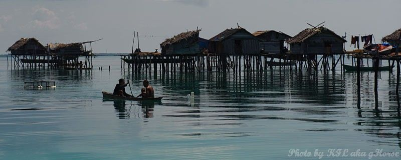 Semporna, Malaysia, sea, sky, cloud, house, boat