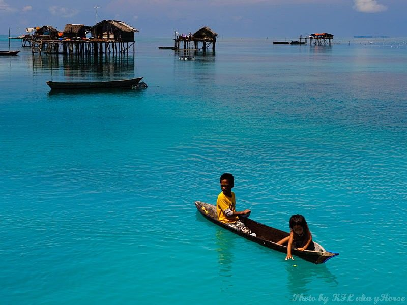 Semporna, Malaysia, sea, sky, blue, cloud, house,