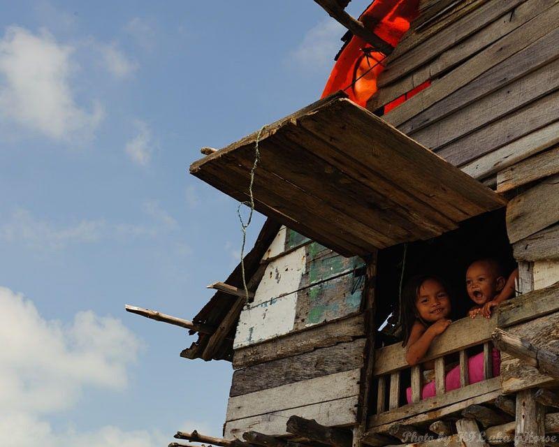 Semporna, Malaysia, sky, blue, cloud, house, child