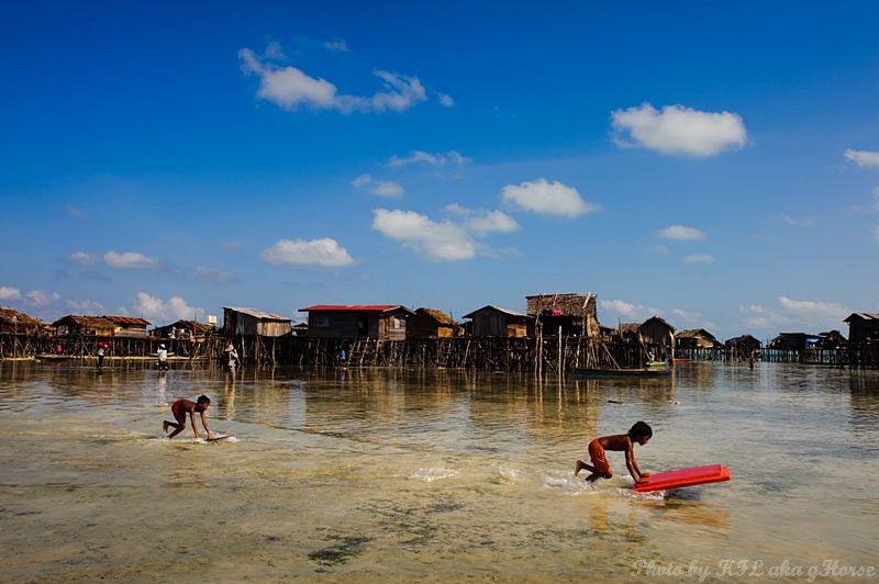 Semporna, Malaysia, sea, sky, blue, cloud, island,