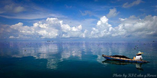 Semporna, Malaysia, sea, sky, blue, cloud, boat, r