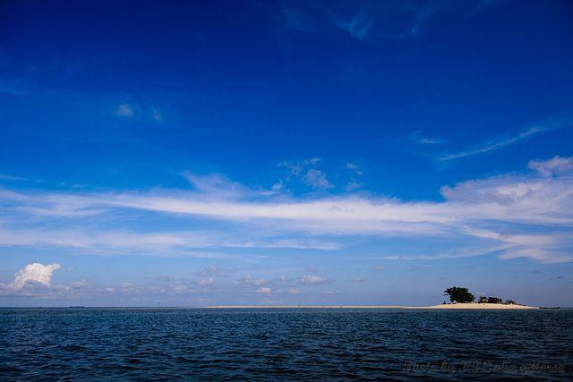 Malaysia, Semporna, blue, sky, cloud, island