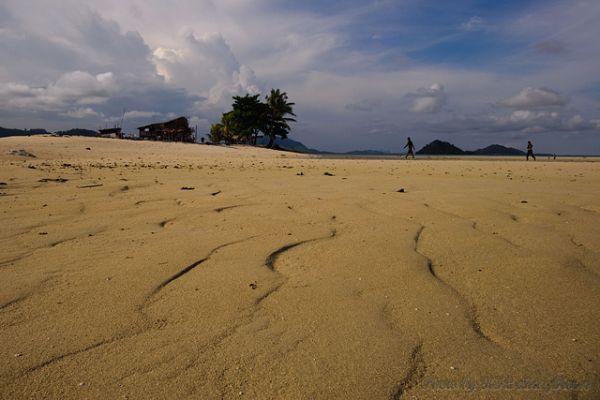 Malaysia, Semporna, sand, sky, cloud