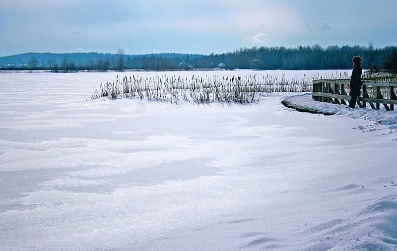 Paysage hivernal au centre d'interprétation...