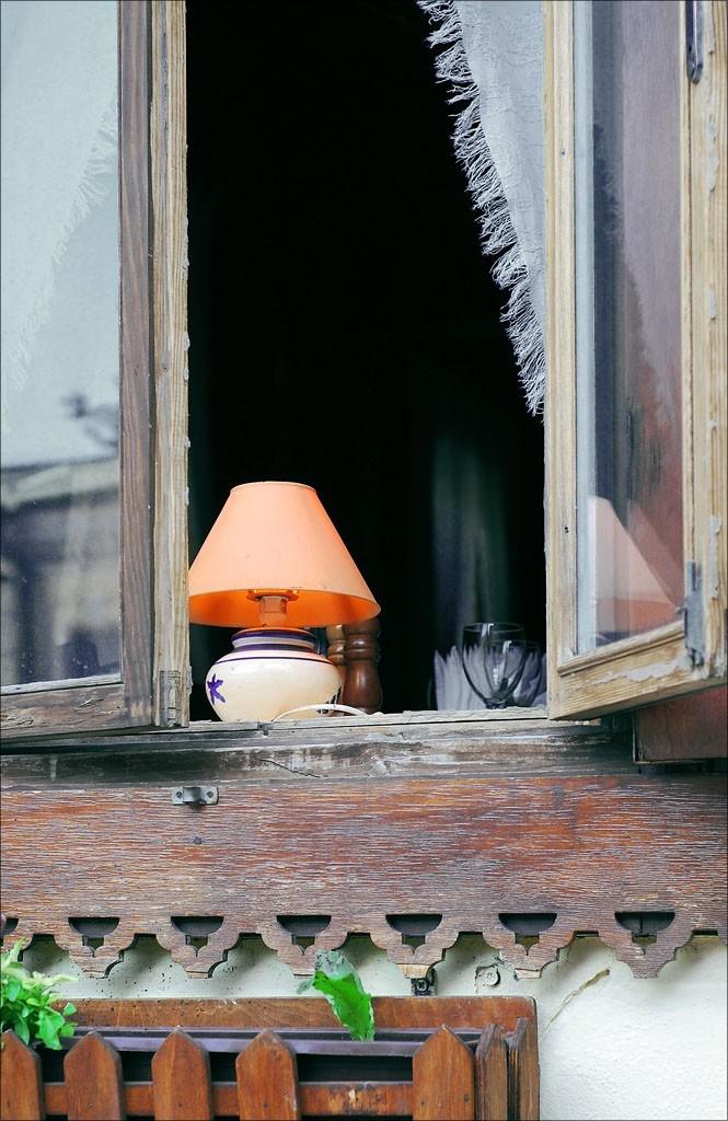 Window and Lamp Still Life