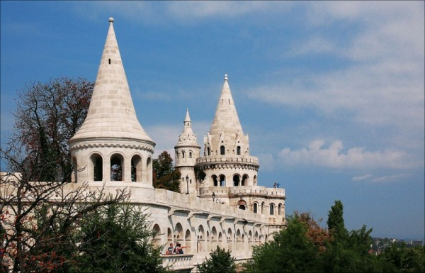 Fisherman's Bastion in the Budapest, Hungary