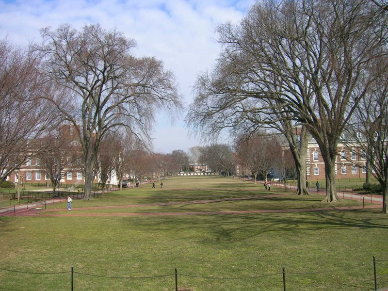 The north green at theUniversity of Delaware