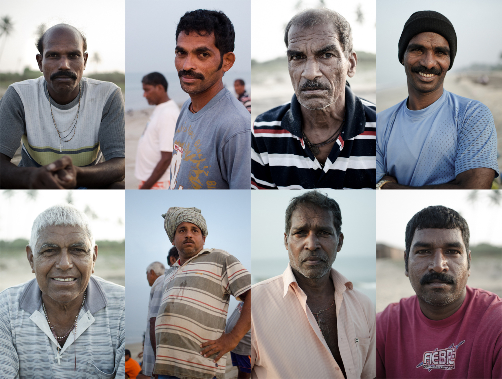 Portraits of the fishermen in Benaulim