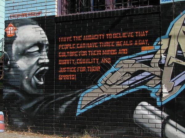 martin luther king jr graffiti