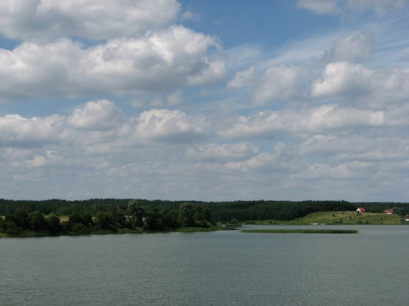 Clouds in the sky over water