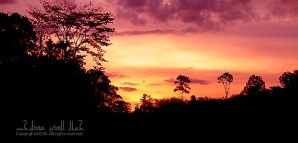 Sunset at Kampung Bantal