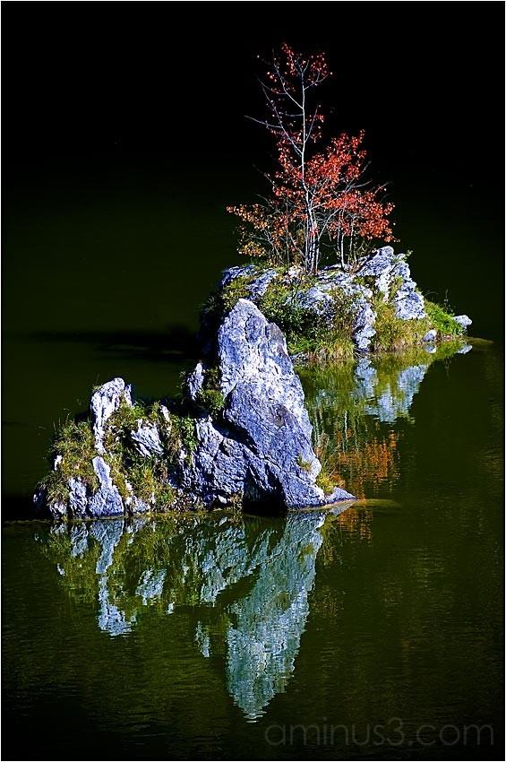 Bergelsteinersee, Insel