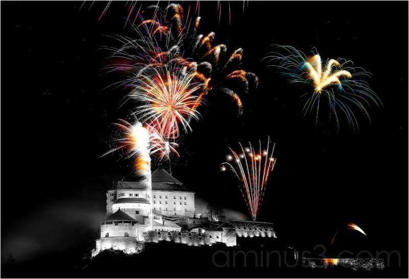 Feuerwerk, Festung Kufstein, Jahreswechsel,