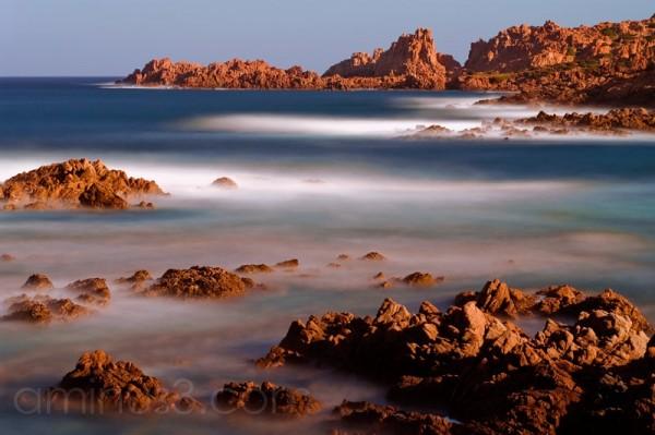 Sardinien , Meer, Langzeitbelichtung