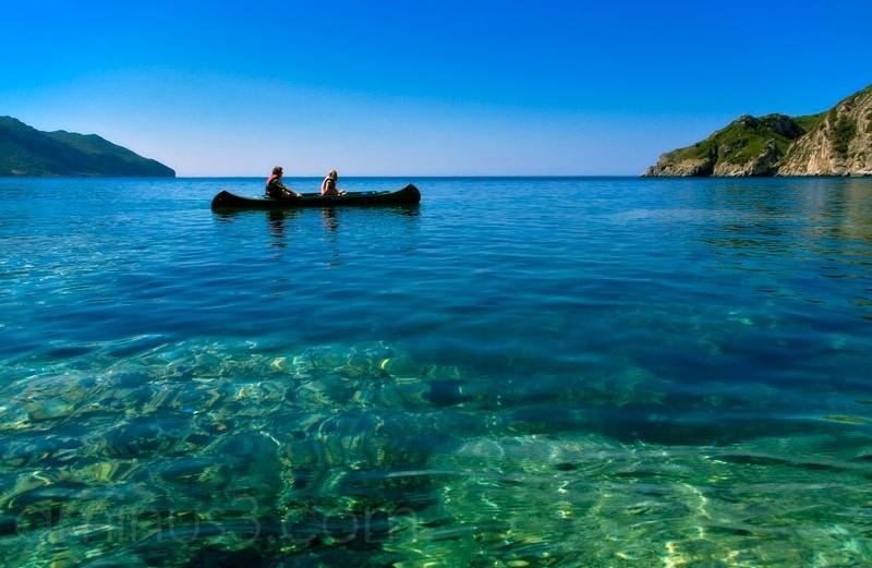 Kanu, Korfu, canoe ride