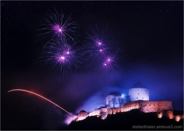 Festung Kufstein, Vorsilvester, Feuerwerk