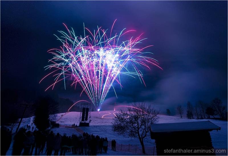 Feuerwerk,  Jahreswechsel, Kitzbühel Feuerwerk