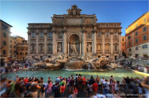 Fontana di Trevi, Trevi Brunnen, Rom